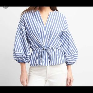 GAP striped blouse with balloon sleeves